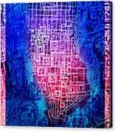Manhattan Map Abstract 5 Canvas Print