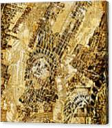 Manhattan Map Antique Canvas Print