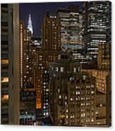 Manhattan Night Canvas Print