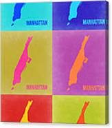 Manhattan Pop Art Map 3 Canvas Print