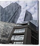 Manhattan Sky And Skyscrapers Canvas Print