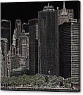 Manhattan Skyline Abstract Canvas Print