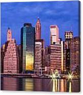 Manhattan Skyline At Sunrise Canvas Print