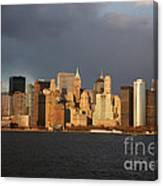 Manhattan Skyline At Sunset Canvas Print