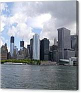 Manhattan Skyline From The Hudson River Canvas Print