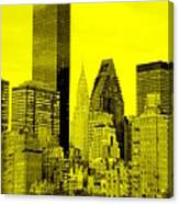 Manhattan Skyline In Yellow Canvas Print