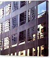 Manhattan Skyscraper Reflection Canvas Print
