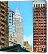 Manhattan Skyscrapers Canvas Print