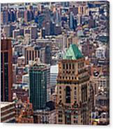 Manhattan View From The Roof Canvas Print