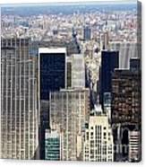 Manhattan View Uptown Canvas Print