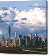 Manhattanincloudbank Canvas Print