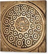 Manhole Mandala Canvas Print
