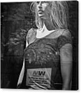 Mannequin In A Window Display Canvas Print