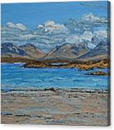 Mannin Bay And The Twelve Bens Mountains Connemara Ireland Canvas Print