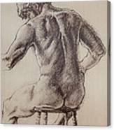 Man's Back Canvas Print