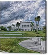Mansion At Tuckahoe In Jensen Beach Florida Canvas Print