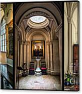 Mansion Hallway Triptych Canvas Print