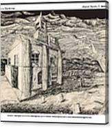 Mansion In Darkness Canvas Print