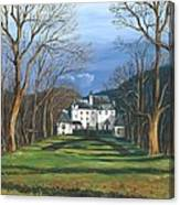 Mansion In The Woods Canvas Print