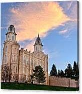 Manti Temple Morning Canvas Print