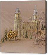 Manti Utah Lds Temple Canvas Print