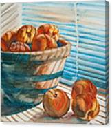 Many Blind Peaches Canvas Print