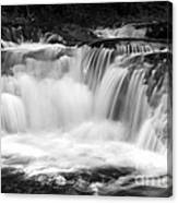 Many Falls - Bw Canvas Print
