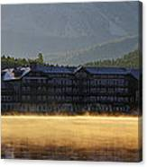 Many Glacier Hotel Sunrise Panorama Canvas Print