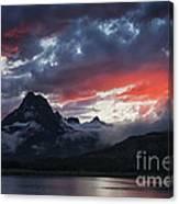 Many Glacier Sunset Canvas Print