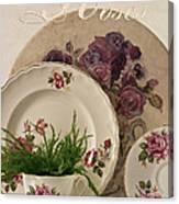 Many Rose Designs Still Life  Canvas Print