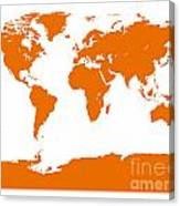Map In Orange Canvas Print