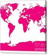 Map In Pink Canvas Print