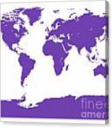 Map In Purple Canvas Print