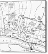 Map: London, 13th Century Canvas Print