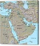 Map - Middle East Canvas Print