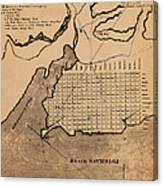 Map Of Alexandria 1798 Canvas Print