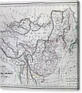 Map Of China And Japan Canvas Print