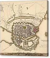 Map Of Copenhagen 1837 Canvas Print