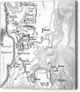 Map Of Delos Greece 1909 Canvas Print