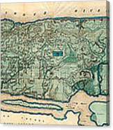 Map Of Manhattan Canvas Print