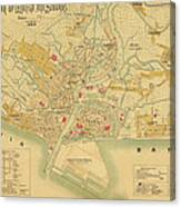 Map Of Manila 1899 Canvas Print