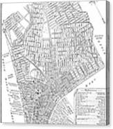 Map Of New York City, 1803 Canvas Print