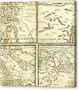 Map Of Spanish Holdings In North America 1769 Canvas Print