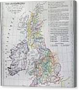 Map Of The British Isles  Canvas Print