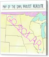Map Of The Dapl Project Reroute Canvas Print