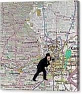 Map Overland Park Kansas Canvas Print