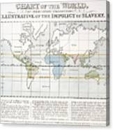 Map Sugar Trade Canvas Print