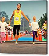 Marathon Of Happiness Canvas Print