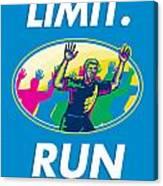 Marathon Runner Push Limits Poster Canvas Print