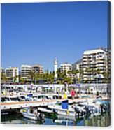 Marbella Marina In Spain Canvas Print